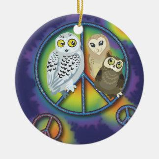 Ornement d'Owl~ de paix