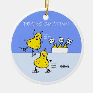 Ornement drôle d'arbre de Noël de patineur