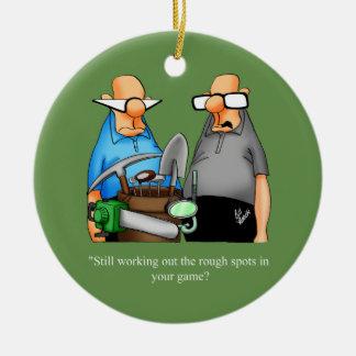 Ornement drôle de bande dessinée d'humour de golf