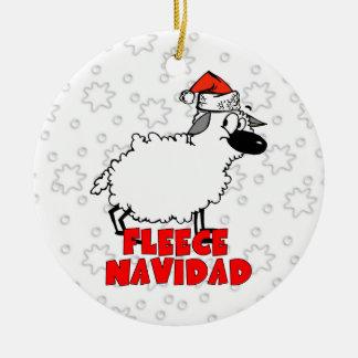 Ornement drôle de Noël de Navidad d'ouatine