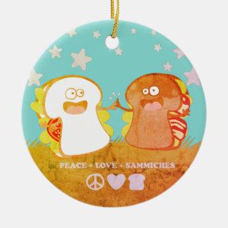 ornement drôle de Noël de nourriture de sandwich à