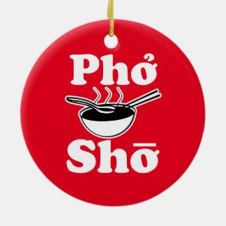 Ornement drôle de Noël de Pho Sho