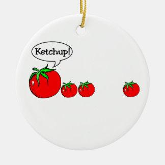 Ornement drôle de plaisanterie de ketchup