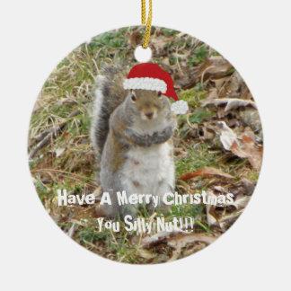 Ornement drôle d'écureuil de Noël