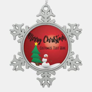 Ornement du bonhomme de neige 3D de Joyeux Noël