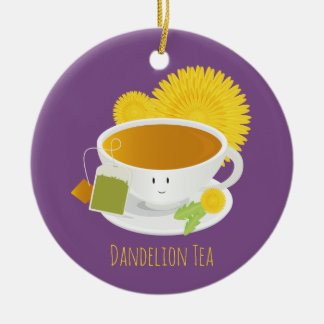 Ornement du caractère   de tasse de thé de