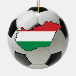 Ornement du football du football de la Hongrie