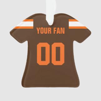 Ornement du Jersey du football Brown, orange et