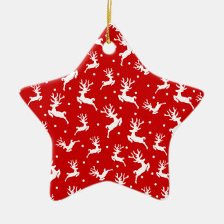 Ornement écervelé élégant de Noël | de renne