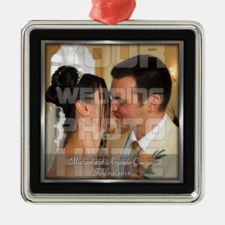 Ornement élégant de photo de mariage