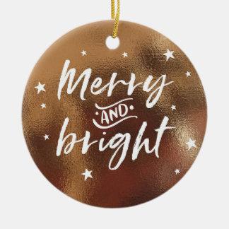 Ornement en bronze de Noël avec la photo
