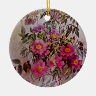 Ornement en céramique botanique   de fleur sauvage
