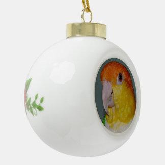 Ornement en céramique de boule de Noël de perroque