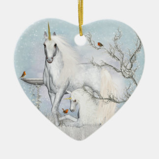 Ornement en céramique de coeur de merles et de