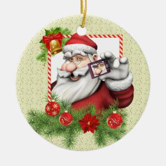 Ornement en céramique de Noël d'art de Père Noël