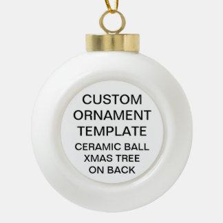 Ornement en céramique de Noël de boule d'ARBRE de