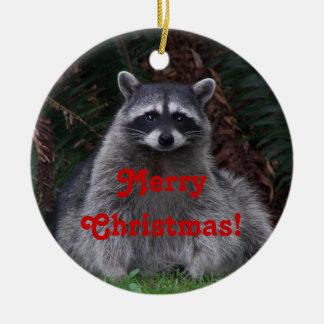Ornement en céramique de Noël de photo de raton