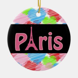 Ornement en céramique de Paris d'amour