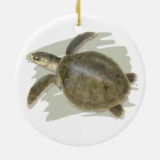 Ornement en céramique de tortue de mer de Ridley