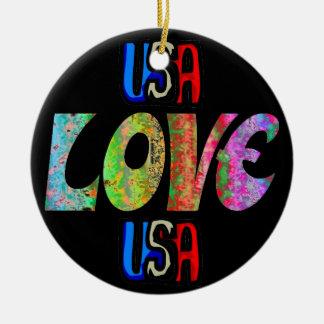 Ornement en céramique des Etats-Unis d'amour