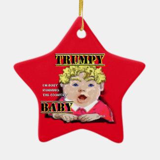 Ornement en céramique d'étoile de bébé de Trumpy
