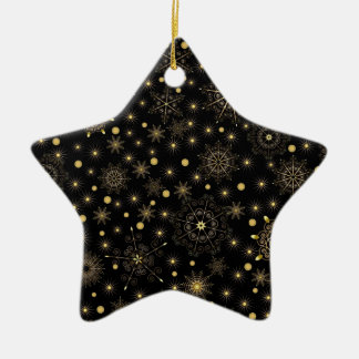 Ornement en céramique d'étoile de motif d'or