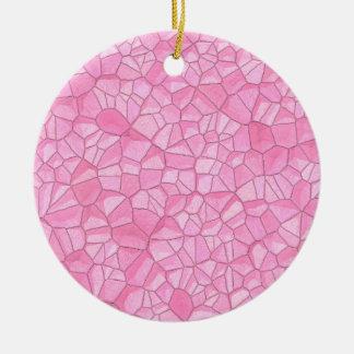 Ornement en cristal rose