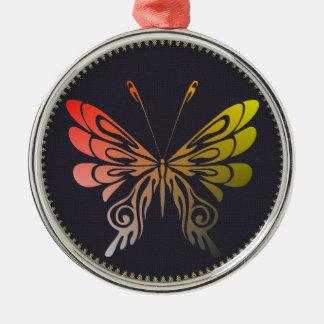 Ornement en métal de papillon
