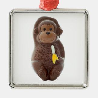 Ornement en métal de singe de chocolat