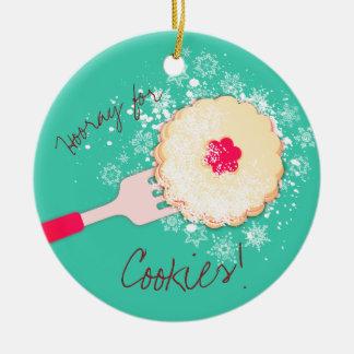 Ornement en poudre de Noël de biscuit de confiture
