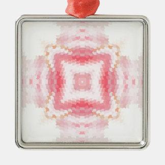 Ornement ethnique abstrait géométrique rose