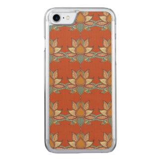 Ornement ethnique de mandala de lotus de fleur coque en bois iPhone 7