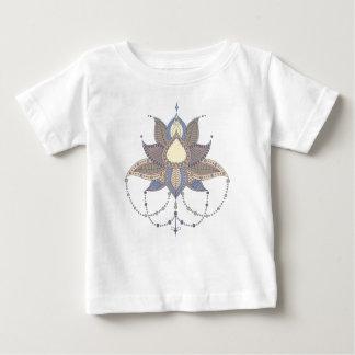 Ornement ethnique de mandala de lotus de fleur t-shirt pour bébé