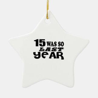 Ornement Étoile En Céramique 15 étaient ainsi ainsi l'année dernière les