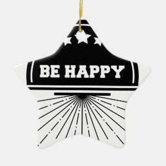 Ornement Étoile En Céramique Abeille libre vivante heureuse