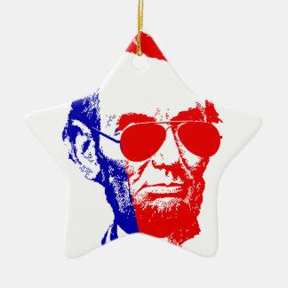 Ornement Étoile En Céramique Abraham Lincoln