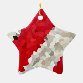 Ornement Étoile En Céramique Abrégé sur rouge et blanc vacances de sucre de