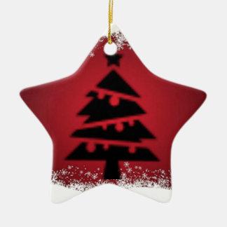 Ornement Étoile En Céramique Acclamation de Noël