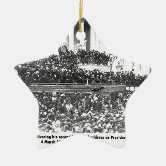 Ornement Étoile En Céramique Adresse en second lieu inaugurale Washingto