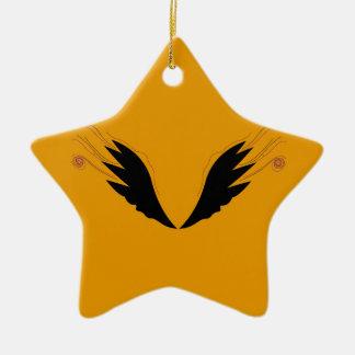 Ornement Étoile En Céramique Ailes de conception, ethno d'or