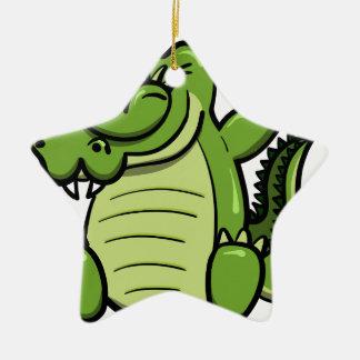 Ornement Étoile En Céramique Alligator tamponnant d'animaux