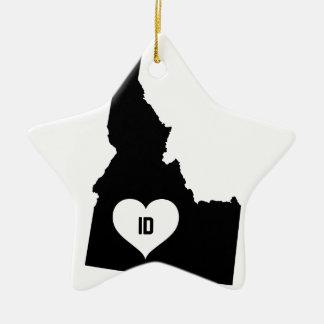 Ornement Étoile En Céramique Amour de l'Idaho