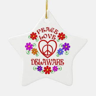 Ornement Étoile En Céramique Amour Delaware de paix