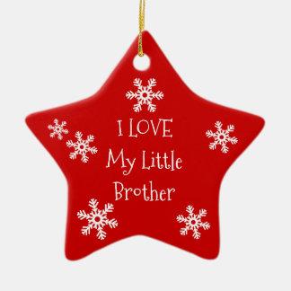 Ornement Étoile En Céramique Amour du flocon de neige I d'hiver de vacances ma