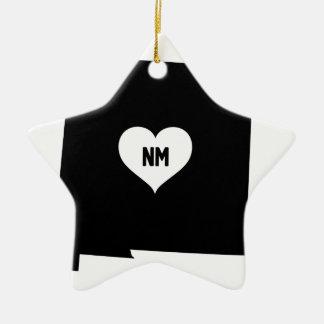 Ornement Étoile En Céramique Amour du Nouveau Mexique