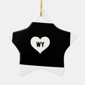 Ornement Étoile En Céramique Amour du Wyoming