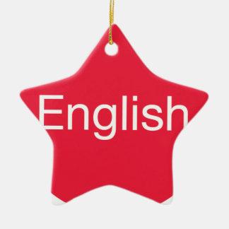 Ornement Étoile En Céramique Anglais