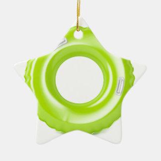 Ornement Étoile En Céramique Anneau vert de bain