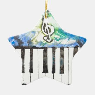 Ornement Étoile En Céramique Aquarelle de piano