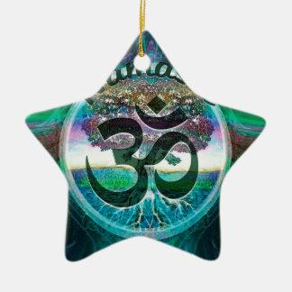 Ornement Étoile En Céramique Arbre de Namaste de la vie